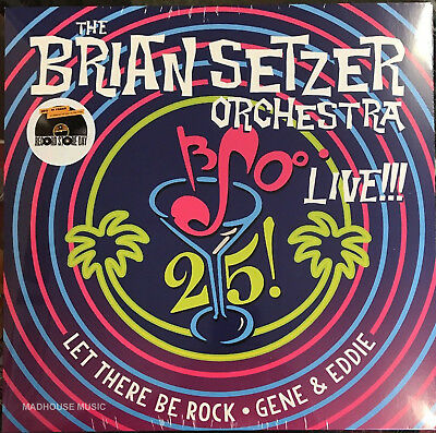 "BRIAN SETZER ORCHESTRA Live!!! Let There Be Rock 12"" BLUE Vinyl RSD Black Friday"