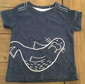 Cute Walrus T-shirt - Size 00 (3-6 months) - As NEW
