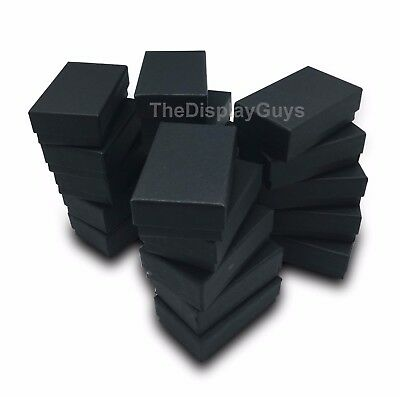 Us Seller 25 Pcs 2 58x1 12x1 Matte Black Cotton Filled Jewelry Boxes