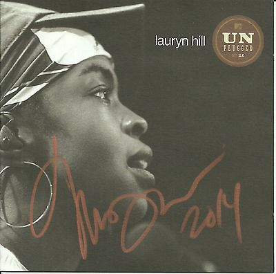 Lauryn Hill signed MTV Unplugged cd