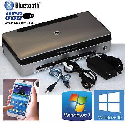 Usb & bluetooth mobile printer hp officejet 100 pour windows xp 7 8 10 android