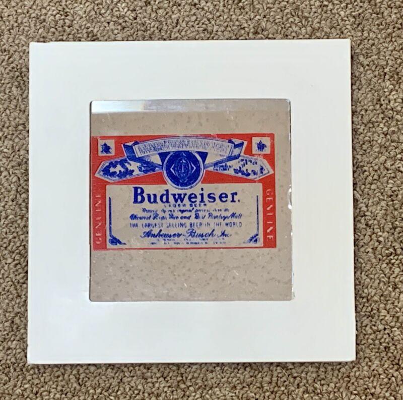 Carnival Prize BUDWEISER Vintage Fair Glass Mirror