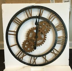HOWARD MILLER 625-517 CROSBY Oversized 30 Metal Gallery Wall Clock 625517  BLEM