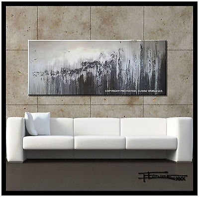 ABSTRACT PAINTING MODERN CANVAS WALL ART 60in Large US ELOISE
