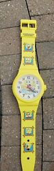 Spongebob Squarepants On Wall Clock Super Rare Great Working Condition 36 x 8