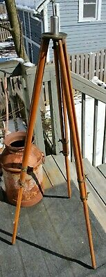 Antique Keuffel Esser Co. Wood And Brass Surveying Transit Instrument Tripod