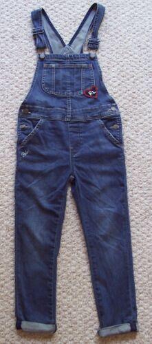 Girls Polo Ralph Lauren Blue Denim Overalls Bibs Size 7