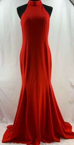 Calvin Klein Formal Evening Gown Dress in Red Size 6 Small