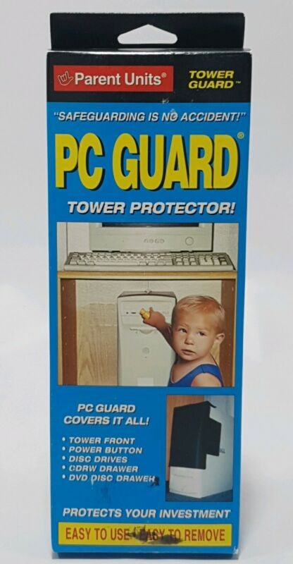 Parent Units PC Guard Gray Computer Tower Cover Child Proofing