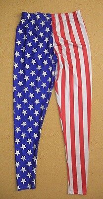 PING PING AND RABBITT United States USA FLAF COMPRESSION PANTS Gym Yoga Size XXL
