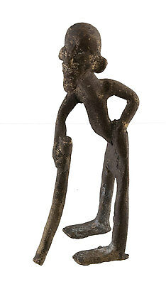 Figure, Figure African Bronze, Old-Ancestor-Art African-Af 1090