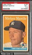 Mickey Mantle Cards #150 1958 Topps PSA