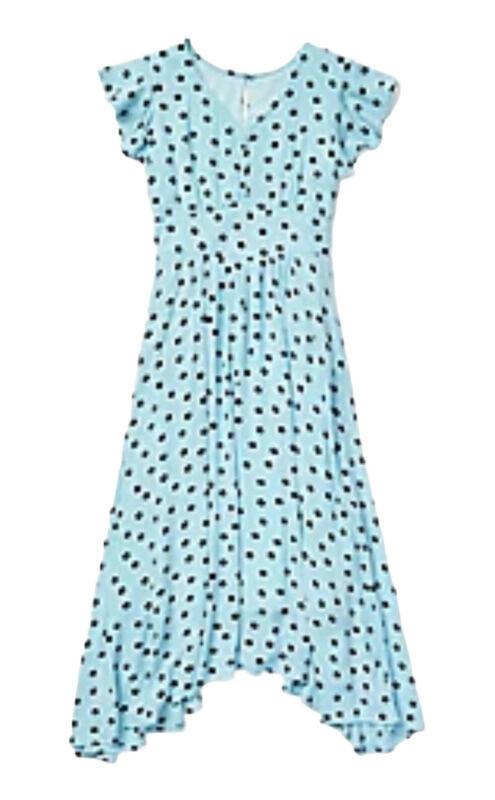 Justice Girls Maxi Dress Polka Dots Lined Bottom Pockets Elastic Waist Size 10