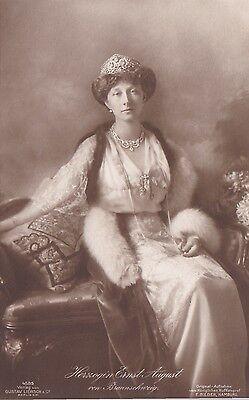 Ansichtskarte Herzogin Ernst August von Braunschweig Adel Viktoria Luise Preußen