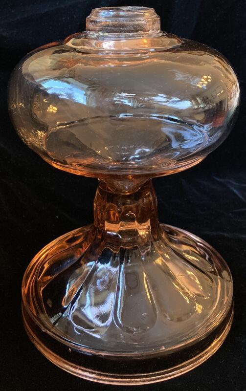 Vintage Pink Depression Glass Kerosene Oil Lamp Base