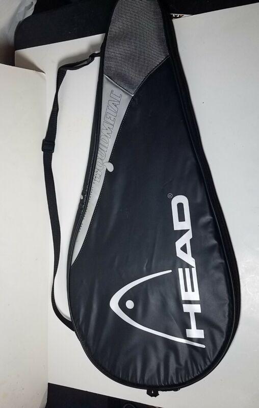 HEAD Liquidmetal Tennis Racquet Cover Case Bag w/ Shoulder Strap Black Gray