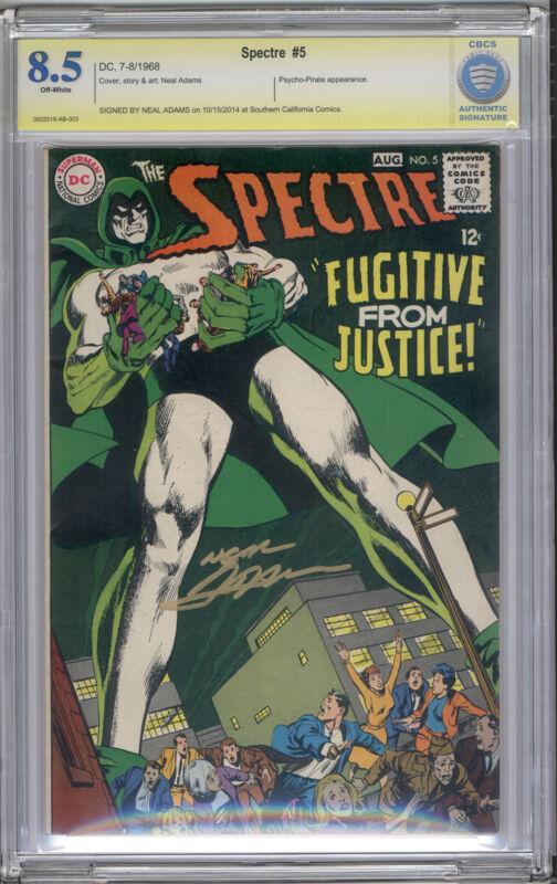 Spectre #5 CBCS VF+ 8.5 Neal Adams Signature Series