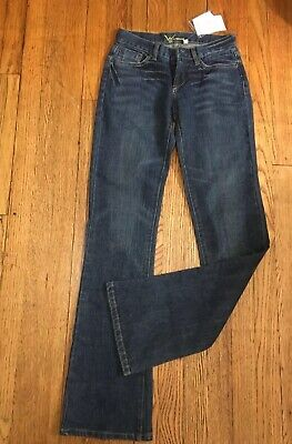 Rhinestone Back Pocket Jean (BEBE Kayla Rhinestone Back Pockets Bootcut Denim Jeans, Size 28, New)