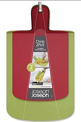 Joseph Joseph Chop2Pot Twin Folding chopping boards Red And Green -  Brand new