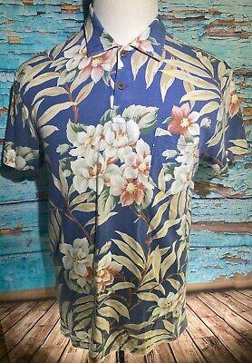 Polo Ralph Lauren Men Polo Shirt Floral Hawaiian Short Sleeve Custom Fit Large L Custom Hawaiian Shirt