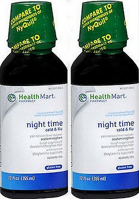 HM Cold & Flu Medicine Unceasingly TIME 12oz ( 2 pack ) PRIORITY SHIP!