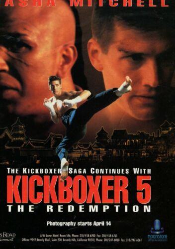 KICKBOXER 5 (1993) Original trade pre production advert  UK POST FREE