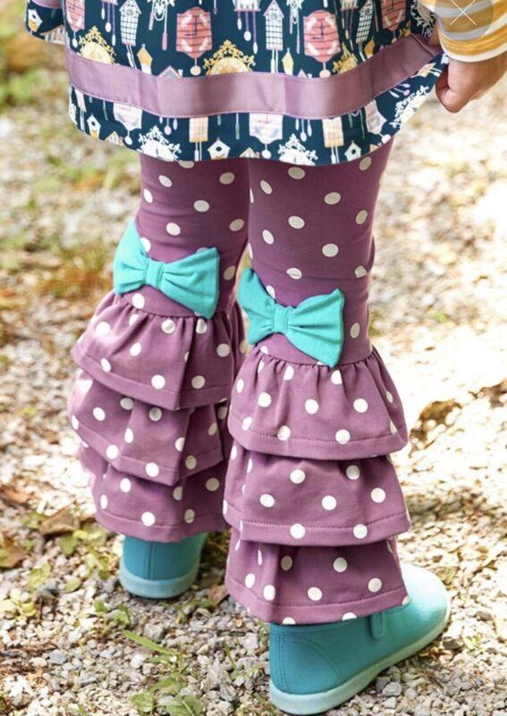 Matilda Jane Girls Looking Ahead Benny Size 6 New in Bag Purple Polka Dot