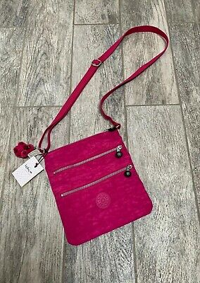 NWT! Kipling Keiko Crossbody Purse/Bag - Very Berry (Pink) + Key Chain - AC7905