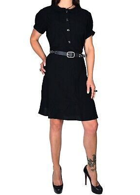 TRIPP GOTHIC WITCH GOTH CULT SECRETARY SCHOOL BLACK OVERSIZED DRESS RN4609 M Clothing, Shoes & Accessories