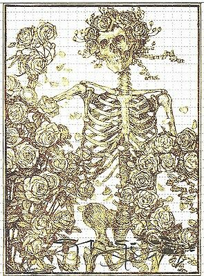Blotter Art Grateful Dead Gold Big Birtha Stanley Mouse Signed & Numbered Sheet