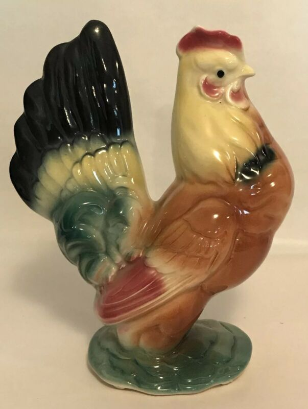 "Royal Copley Hen Set 7"" Figurine Chicken Farmhouse Vintage"