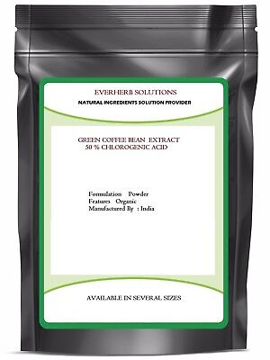 Green Coffee Bean Extract Powder  (  50% Chlorogenic Acid  ) Pure & Best