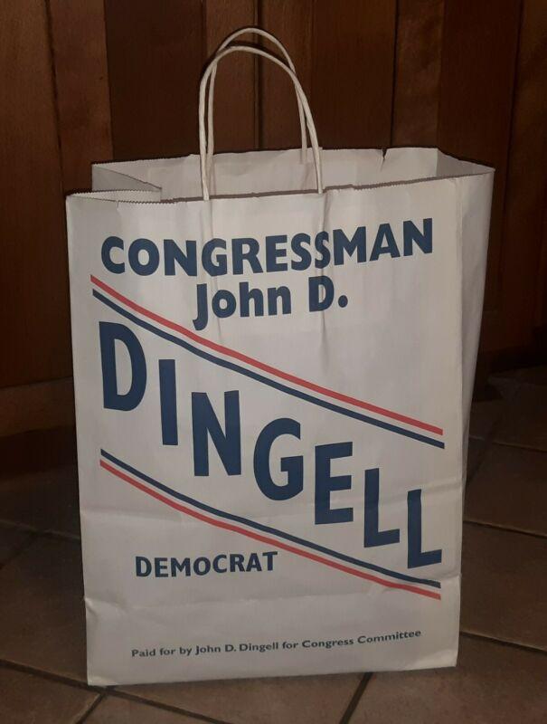Democrat John Dingell Michigan Congressman 1955-2014 political campaign bag VTG