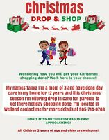 Christmas drop and shop child care