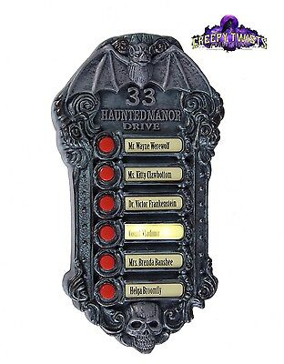 Haunted Mansion Doorbell Halloween Light And Sounds Animated Decoration (Haunted Halloween Sounds)