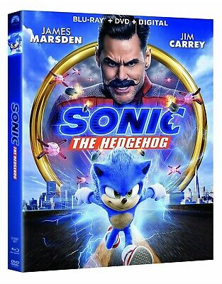 SONIC THE HEDGEHOG(BLU-RAY+DVD+DIGITAL)W/SLIPCOVER NEW SHIPS 5/19/2020