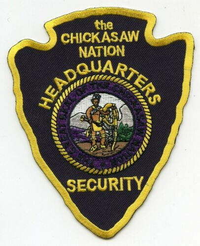 CHICKASAW INDIAN TRIBE OKLAHOMA OK HEADQUARTERS TRIBAL SECURITY police PATCH