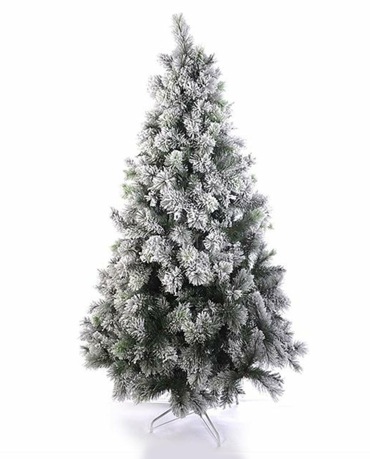 Albero Di Natale Innevato Abete Artificiale 210Cm Albero Folto Base dfh