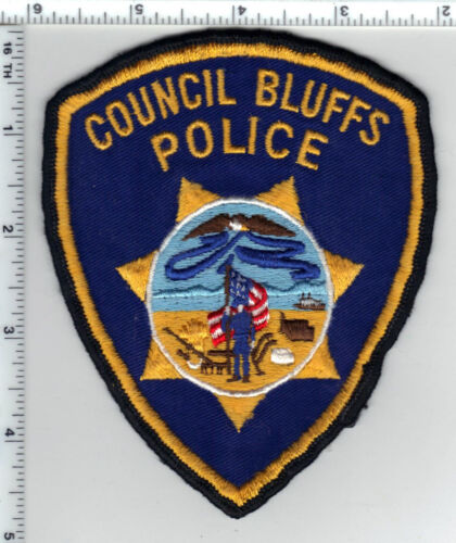 Council Bluffs Police (Iowa)  Shoulder Patch - new from the 1980