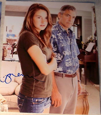 Shailene Woodley Signed Autograph  The Descendants  With Clooney 8X10 Photo Coa