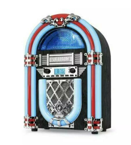 Victrola Nostolgic Retro Mini Desktop Jukebox FM Radio Bluet