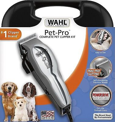 New Wahl Pet Pro Thick Hair Complete Heavy Duty Dog Grooming Clipper 13 Pcs Kit