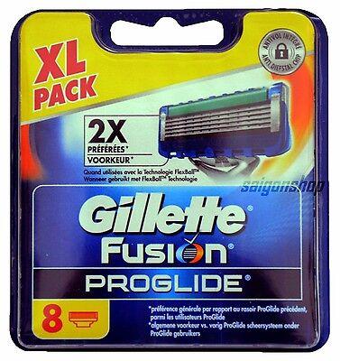 8 Klingen Gillette Fusion Proglide Rasierklingen Neu & Original