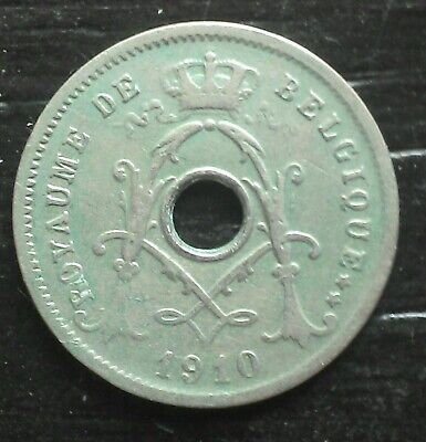 monnaie munt Belgique Belgie Albert I  5 cent 1910 légende française
