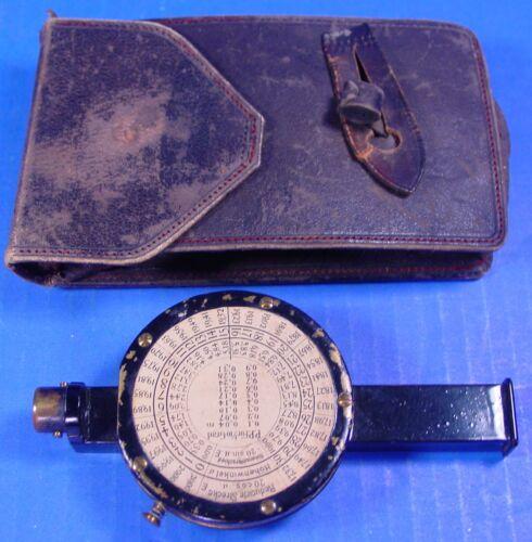 1895 Brandis Hypsometer & Clinometer in Leather Case