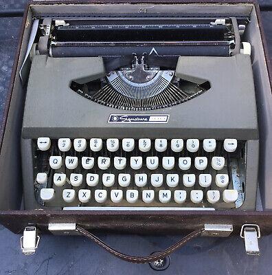 Vintage Montgomery Wards Singnature 100 Manual Typewriter