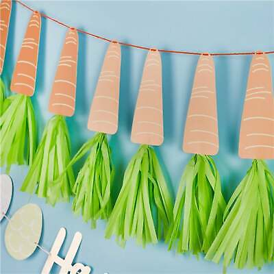 Easter Carrot Tassel Garland Make Your Own Banner Garden Party Decoration DIY