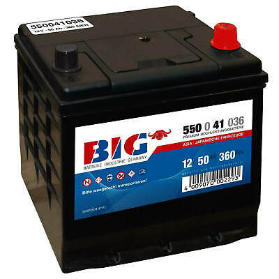 BIG ASIA Autobatterie 12V 50Ah Starterbatterie ETS50JR Kia Hyundai 55041