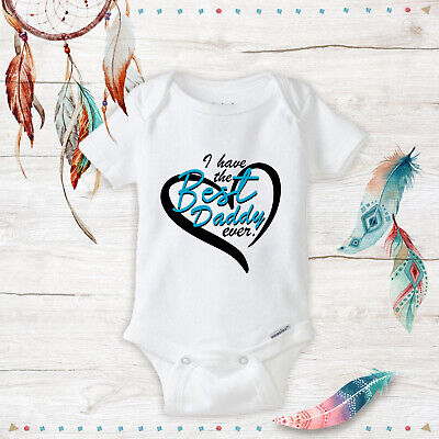 Best Daddy Ever Unisex Baby newborn clothes Baby Shower Gifts Infant Heart