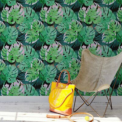 Banana leaf botanical removable wallpaper / jungle style monstera leaf](Jungle Leaf)